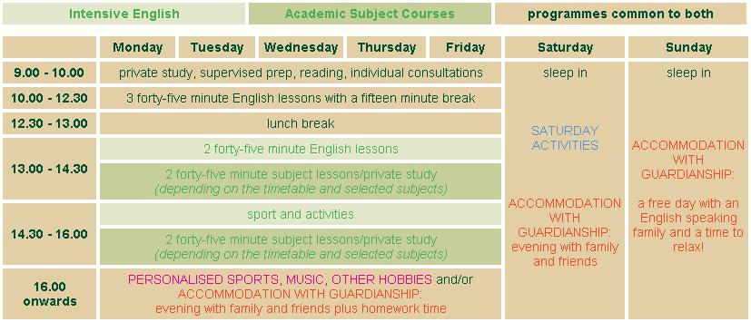 schedule EAT